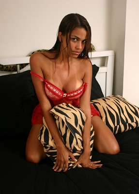 polliana-and her red lingerie
